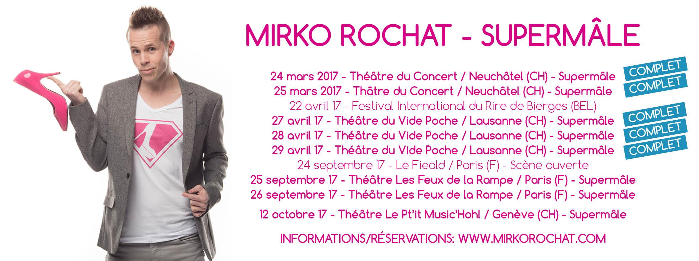 Mirko Rochat - Supermâles - Dates
