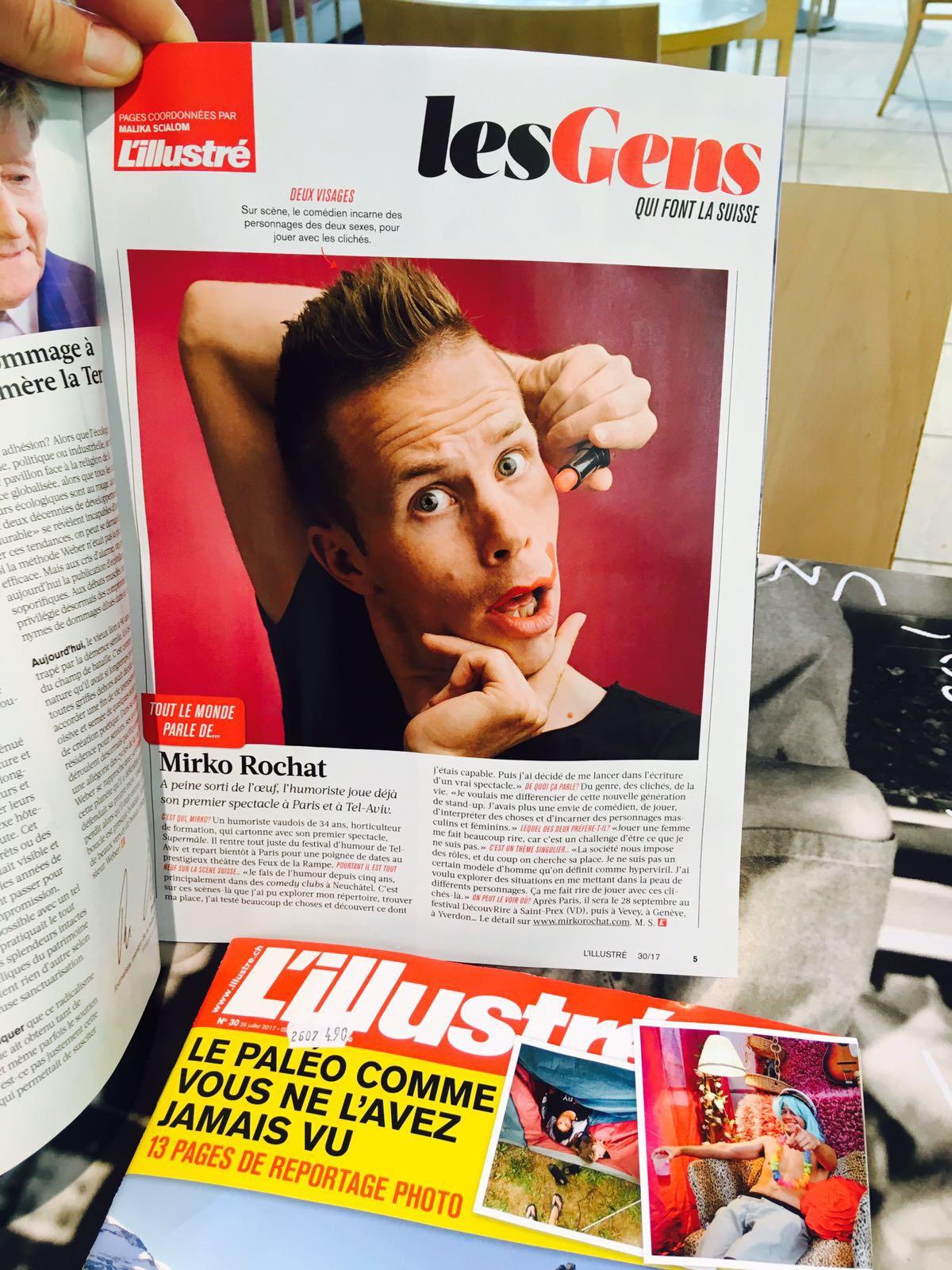 Mirko Rochat dans l'Illustré