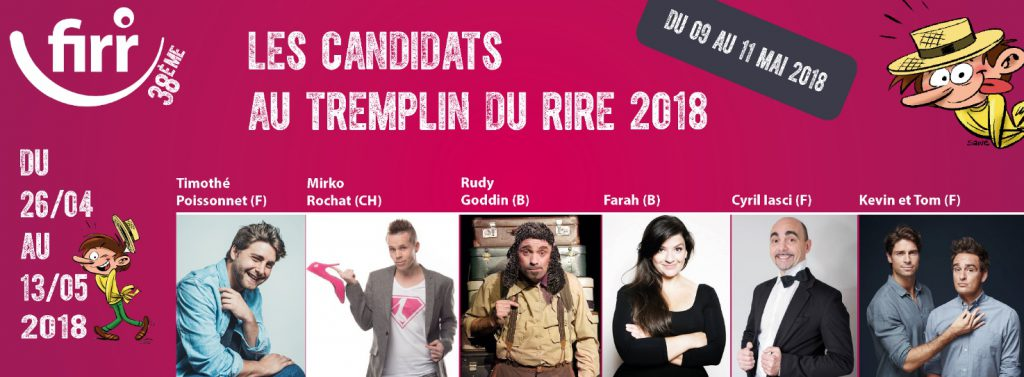 FIRR - Festival International du Rire de Rochefort (BE) - Templin du Rire 2018