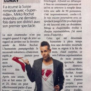 Mirko Rochat - Journal de Morges - septembre 2018 - Supermâle