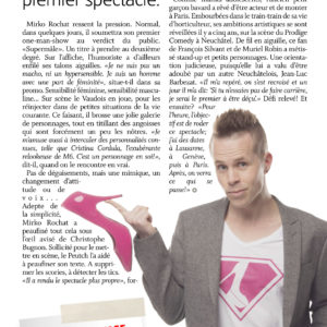 Article Mirko Rochat - Supermâle - L'Express - Arc Info